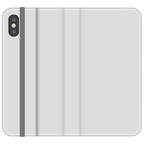 iPhone X Folio Wallet in Satin (Clear PC Insert)