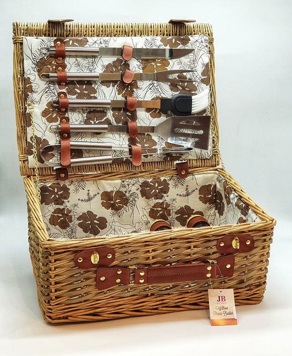 16pcs Picnic Basket with BBQ Tools