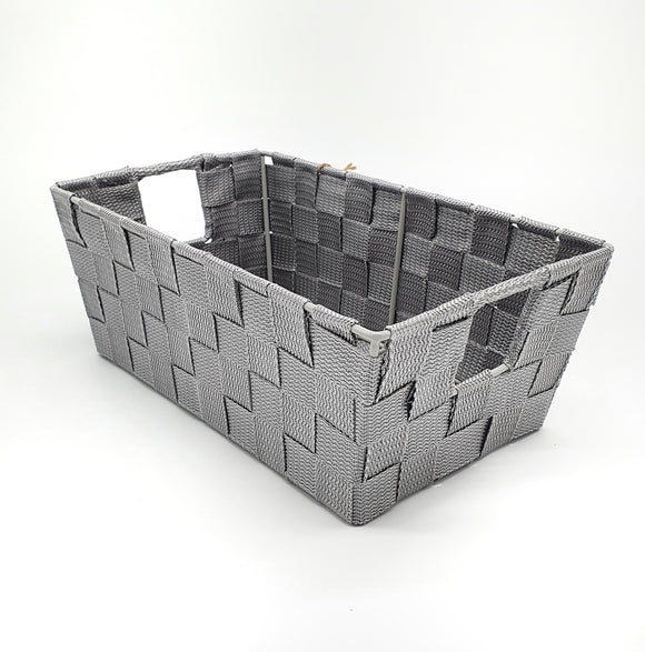 Woven storage basket Small Grey