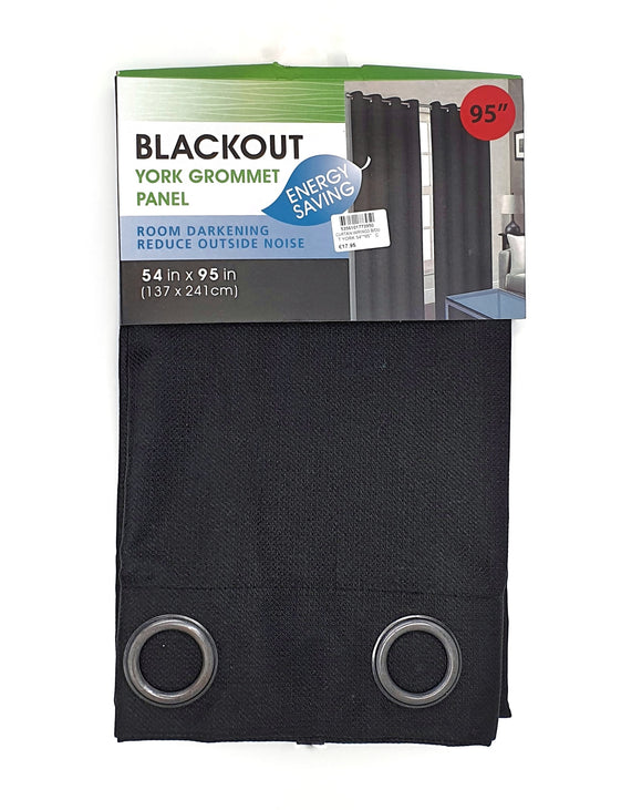 Blackout Curtain w/rings 137cm*241cm Black
