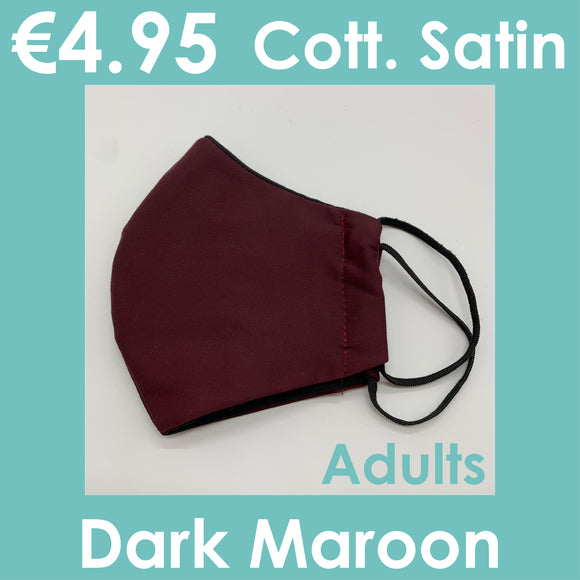 Fancy Fabric Masks - Cotton Satin