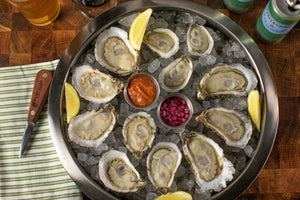 oyster, oysters, oyster sampler, misty point, watch house point, chincoteague salt, little bitches