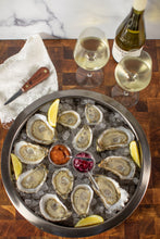 Load image into Gallery viewer, oyster, oysters, oyster sampler, misty point, watch house point, chincoteague salt, little bitches