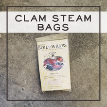 Load image into Gallery viewer, steaming bags, steaming bag, clam steam, clam bag, clam steam bag