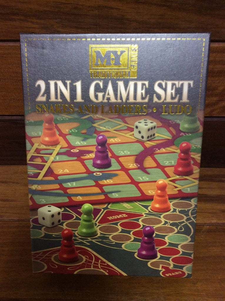 2 IN 1 Board Game Set Snakes & Ladders / Ludo