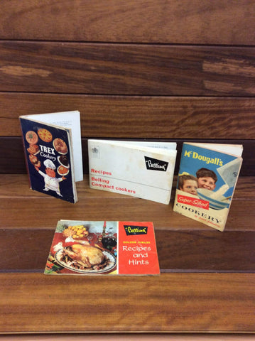 A collection of 1950s and 1960s cookery books