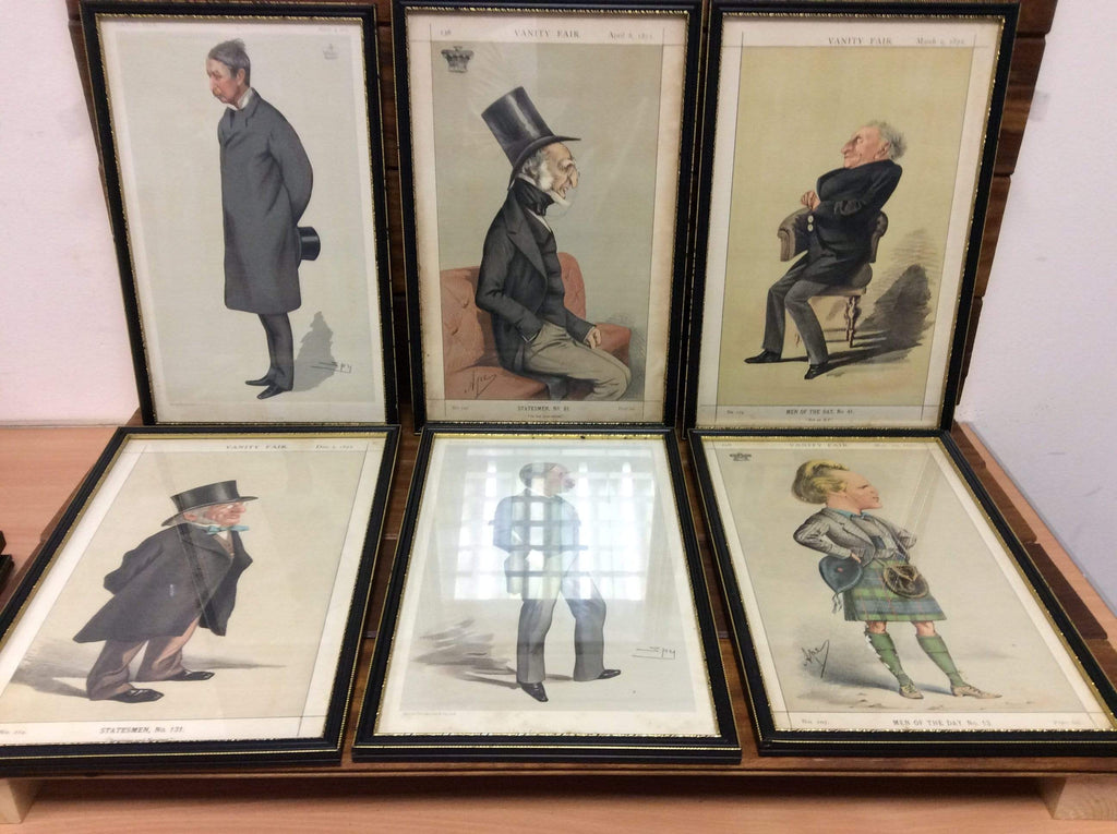 "A Collection of Vanity Fair prints from the 1870's ""Men of the day"" antique bundle."