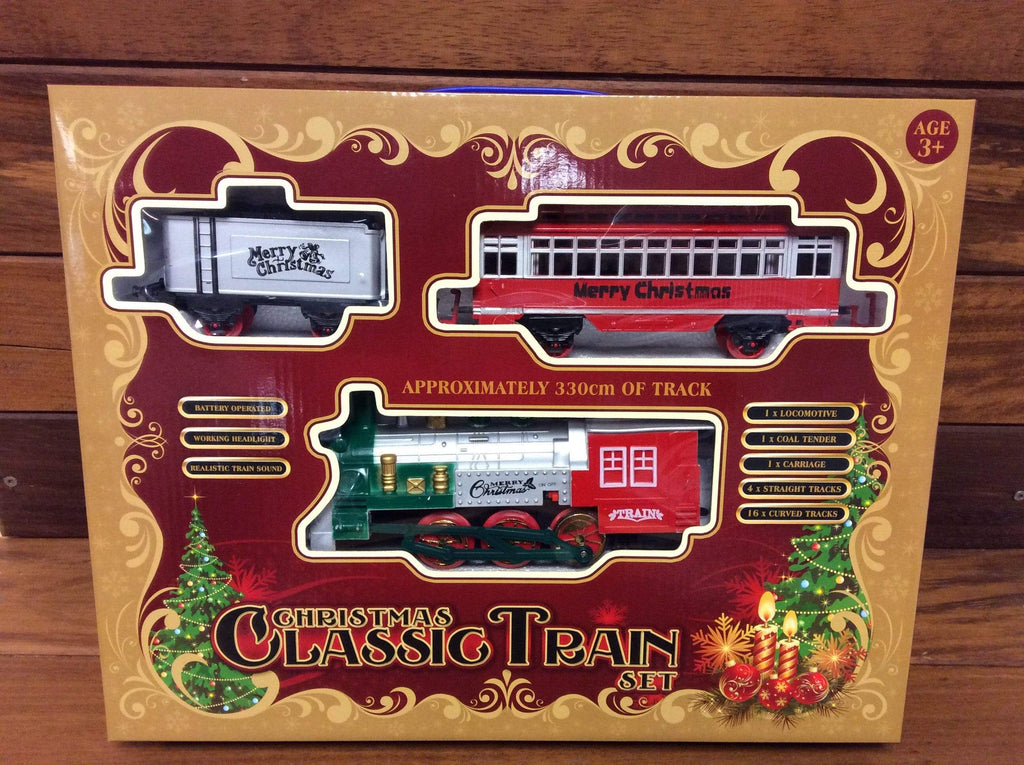 Battery Operated Christmas Train Set