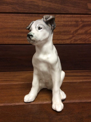 Ceramic Terrier 19cm tall made in USSR