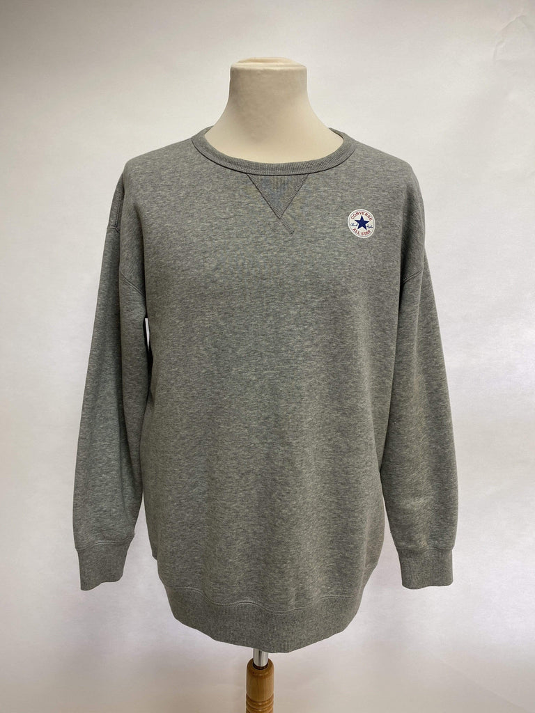 Converse All Star Grey Marl sweatshirt UK Size L