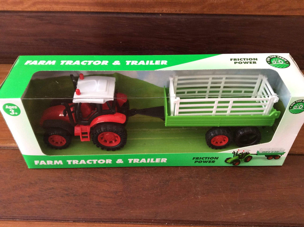 Friction Tractor and trailer playset