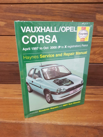 Haynes manual Vauxhall Corsa 1997-2000 petrol new and sealed