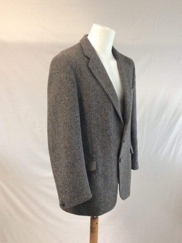 Hodges Tailored Harris Tweed Jacket 100% Wool.