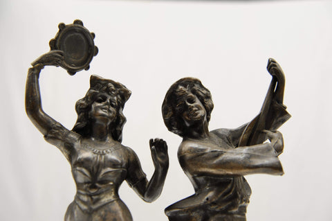 """La Danse"" & ""La Musique"" metal cast figuirines reproduction."