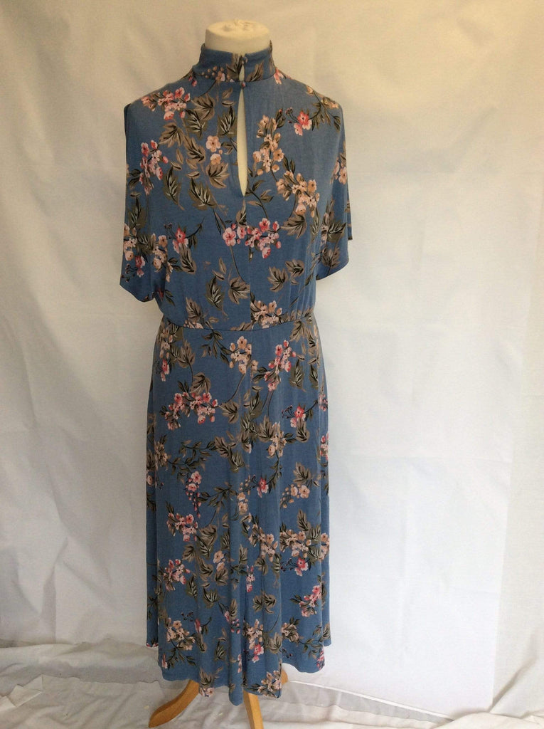 Ladies Plus Size floral print high neck dress UK Size 20