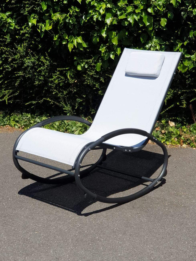 Lightweight rocking chair with pillow