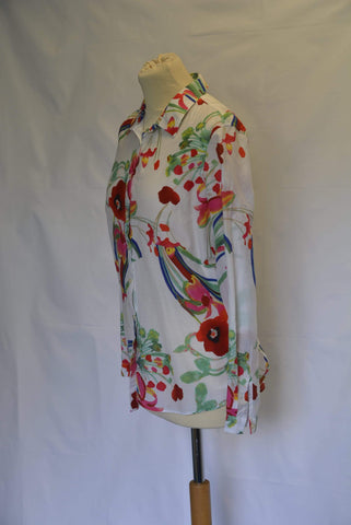 M&S Collection Cotton/silk blend blouse UK Size 12