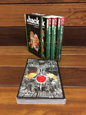 Manga books bundle. .HACK and Deathnote 13 Anime graphic novels.