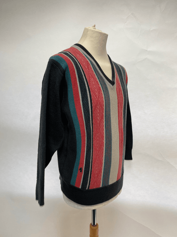 Men's 80s Gabicci wool V Neck jumper UK Size L