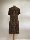 NEXT Leopard Print short sleeved dress UK Size 12