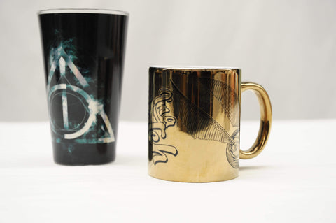 Pair of Harry Potter cups/ glasses.