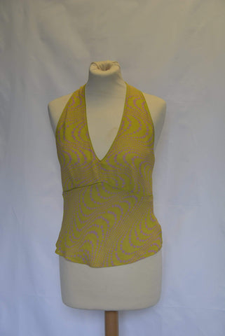 Planet Ladies' top silk blend halterneck top UK Size 8
