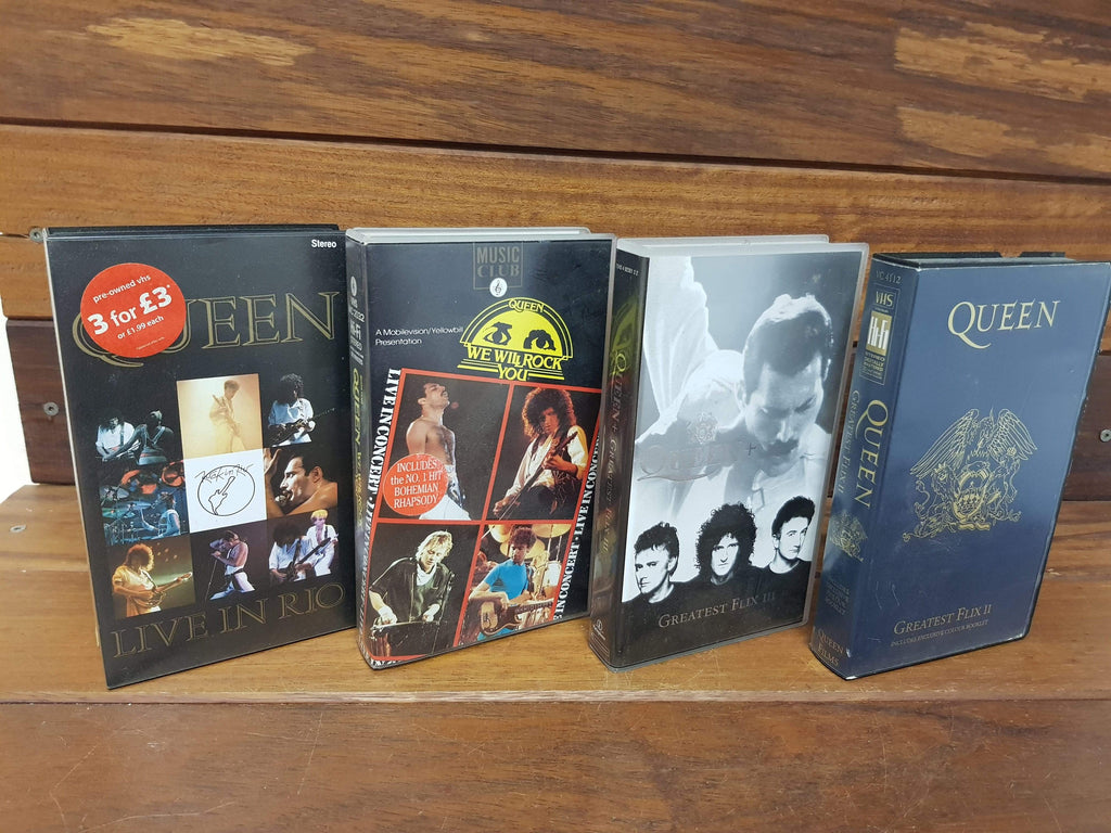 Queen VHS live in concert bundle