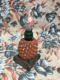 Rare 1950s Plaster Britvic Promotional Pineapple Lamp *rewired*