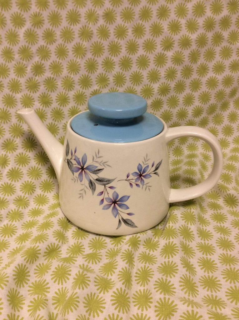 "Ridgway retro teapot ""White Mist"" with lid 1980s"