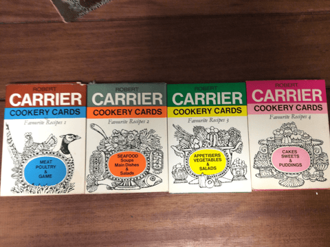 Robert Carrier Cookery Cards