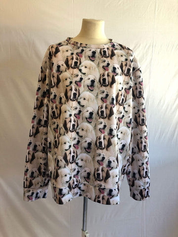 Unisex dog print sweatshirt top