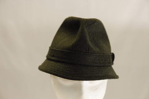 Vintage 1950's green wool walker hat