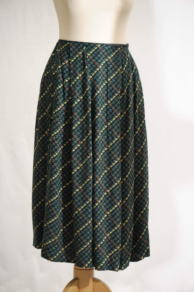Vintage 1950s abstract  full skirt