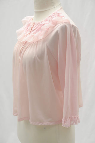 Vintage 1960s sheer babydoll bed coat