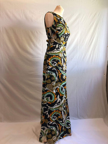 Vintage 1970s Berkertex psychedelic maxi dress