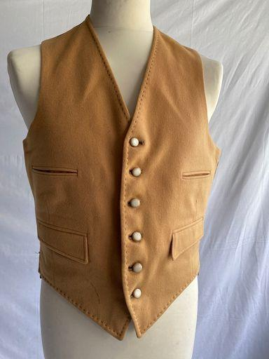 Vintage 1970s Hodges tailored wool waistcoat