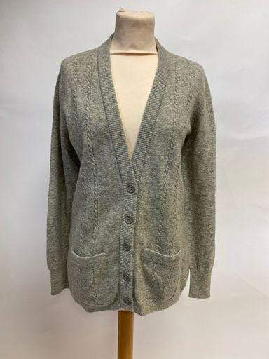 Vintage 1980s Jaeger lambswool cable knit cardigan