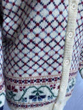 Vintage 1980s Laura Ashley fair isle cardigan