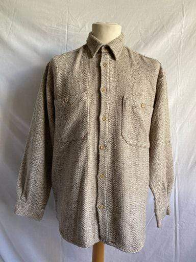Vintage 1990s oversized tweed shirt