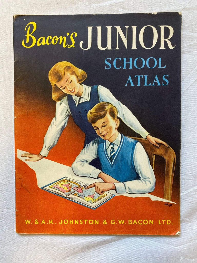 Vintage book - Bacon's Junior school Atlas