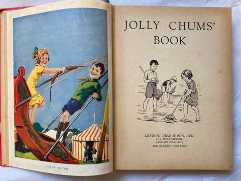 Vintage book - Jolly Chums' Book