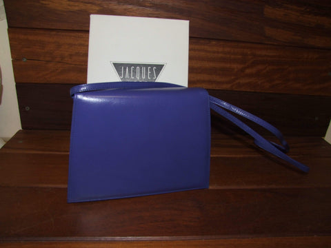 Vintage Boxed 1980s Jacques Vert Handbag in Cobalt Blue