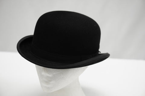 Vintage Dunn & Co black bowler hat