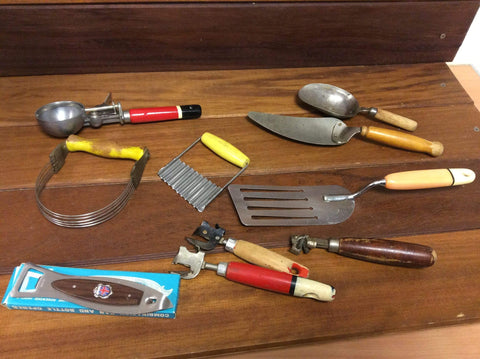 Vintage Kitchenalia job lot Incl Skyline Utensils
