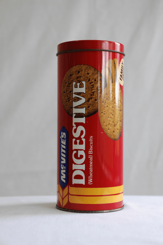 Vintage McVitie's Digestive (Wheatmeal) Biscuits Tin retro England - Empty Tin
