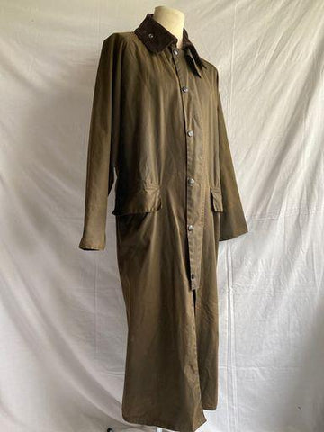 Vintage Olive green Barbour Burghley A845 wax cotton coat