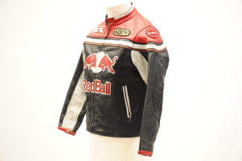Vintage Red Bull leather bomber jacket