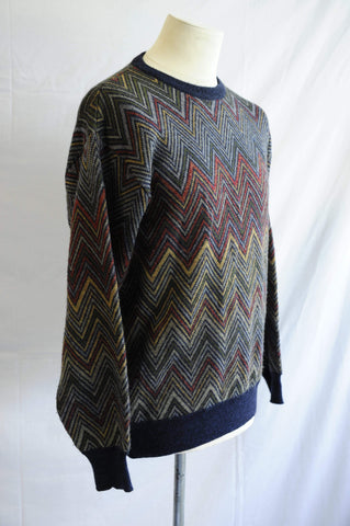 Vintage Robert Banks New York oversized abstract jumper