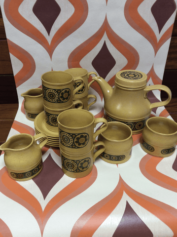 Vintage Tea Set, Kiln Craft Bacchus, Including Tea Pot, 70's
