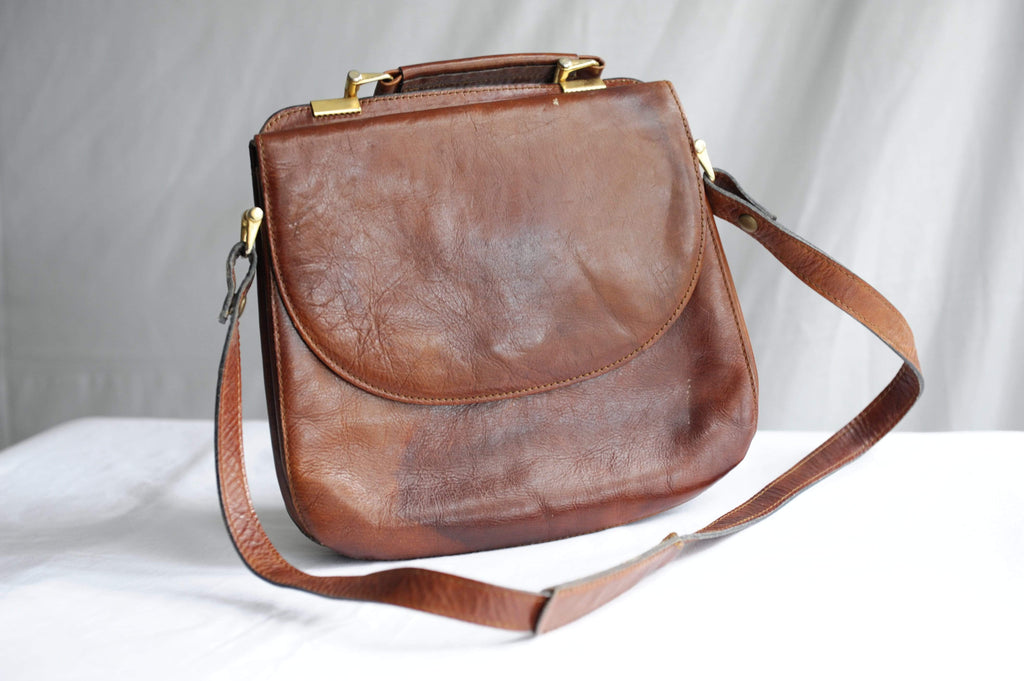 Vintage  Three bags of Finland leather satchel bag